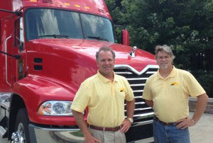 tom and ken in front of the truck