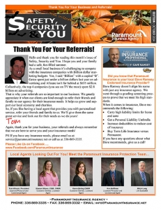 Paramount Insurance Newsletter